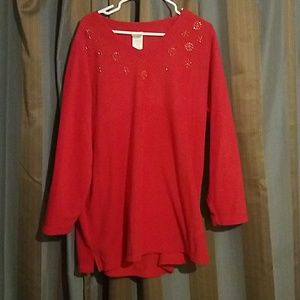 Just My Size 100% polyester red sweater